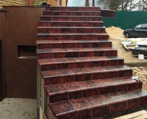 Плитка для лестницы (Одна сторона имеет закругление)