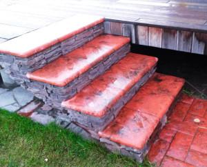 Плитка для лестницы (Угловой элемент, две стороны имеют закругления)