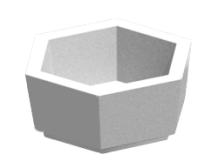 Бетонная шестиугольная цветочница Ц 6-1