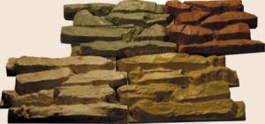 Облицовочный камень для фасада  крупный плитняк