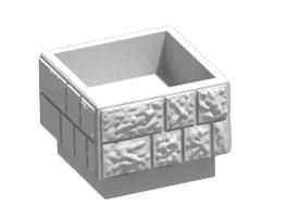 Цветочница квадратная модель Ц4-1