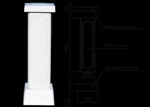 Столб для балюстрады (тумба)