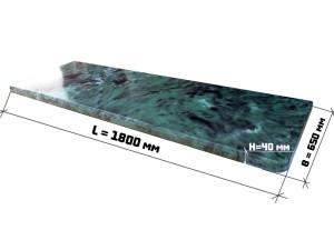 Подоконник из искусственного камня 3002/7