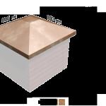 Крышка на столб квадратная 800х800х175