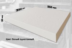 Плитка для ступеней без закруглений (Цвет белый однотонный)