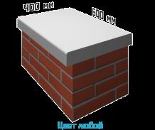 Крышка на забор (парапет) 600х400х60