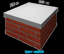 Крышка на столб прямоугольная 705х605х70 мм