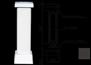 Столб для балюстрады (тумба) цвет 125