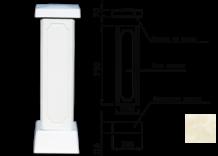Столб для балюстрады (тумба) цвет 135