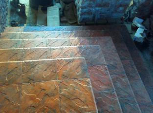 Плиты из искусственного камня для ступеней